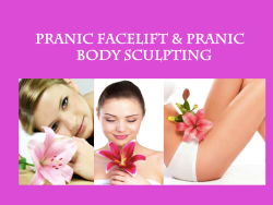CORSO DI PRANIC FACIAL LIFTING E BODY SCULPTING