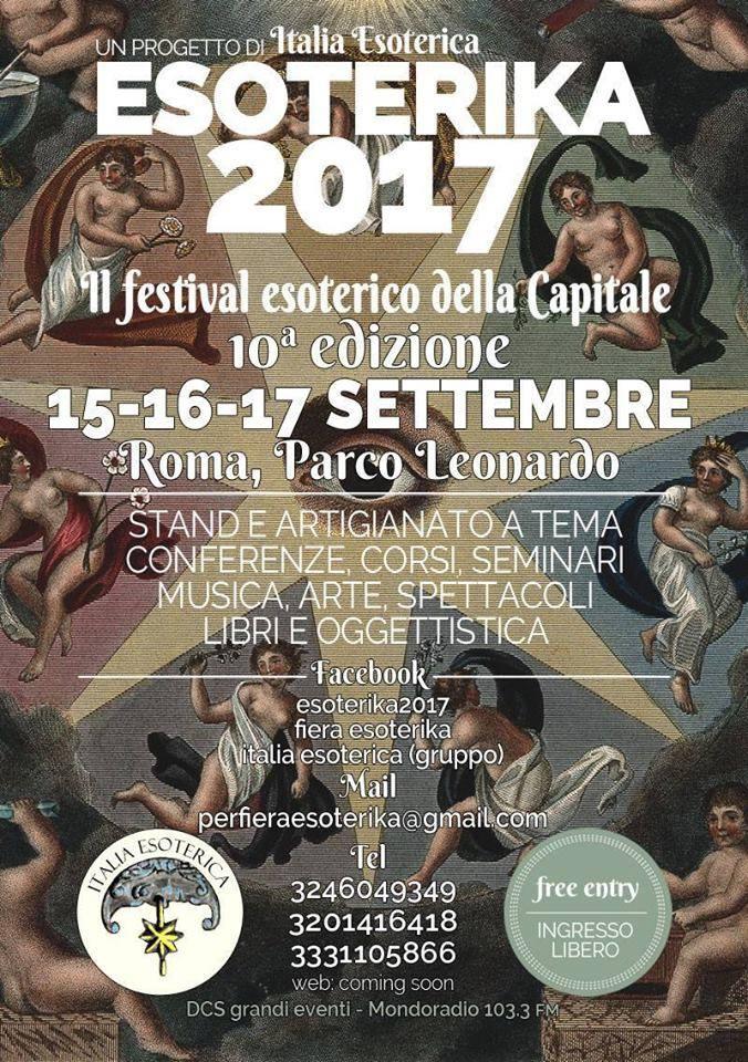 FESTIVAL ESOTERIKA ROMA 15 – 17 SETTEMBRE 2017