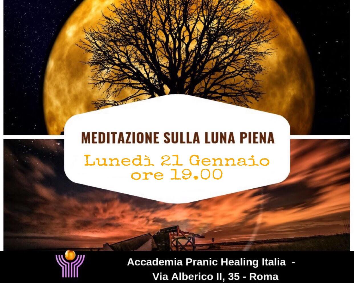 MEDITAZIONE SULLA LUNA PIENA – 21 GENNAIO 2019 ORE 19.00